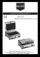 آلة التحمیص الكھربائیّة من النوع التجاري ELEKTRİKLİ TOST KULLANIM KILAVUZU