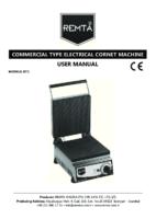 ELECTRIC ICECREAM CORNET COOKER MANUAL